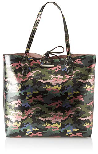 Guess Damen Bobbi Tote, Mehrfarbig (Green Camo), 42.5x35x12.5 centimeters