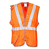 Portwest RT20 - Hi-Vis chaleco largo GORT, color naranja, talla Small