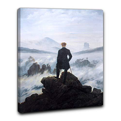 Niik Quadro + Telaio (BC) viandante sul mare di nebbia caspar david friedrich 60 x 47 x 1,7 cm falso d'autore stampa su tela