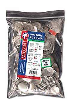 100 Buttons to Cover - Made in USA - Cover Buttons with Wire Eye Backs Size 45  1 1/8