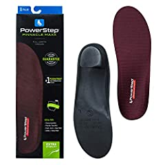 Full length total support – Powerstep Pinnacle Maxx orthotic shoe insoles offer total support to prevent and alleviate foot pain. A firmer shell, angled exterior heel platform and deep heel cup provide greater control, stability and foot arch support...