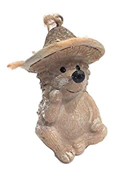 COCO Hedgehog with Mushroom Hat Christmas Tree Ornament Woodland Holiday Collection