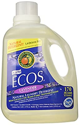Earth Friendly - ECOS 2X Ultra All Natural Laundry Detergent 170 Loads Lavender