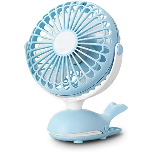SONG Clip Pequeño Ventilador Portátil USB Pequeño Dormitorio de Estudiantes Cama Ventilador de Carga de Escritorio Mini Lindo,Blue
