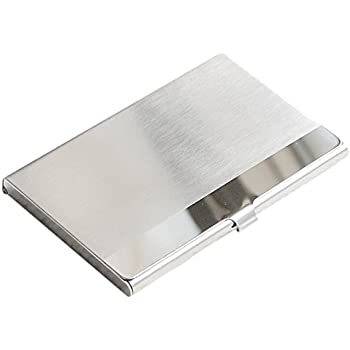 Waymeduo Acier Inox Aluminium Etui Boite Boitier Commercial Porte Carte Visite Credit surface horizontal