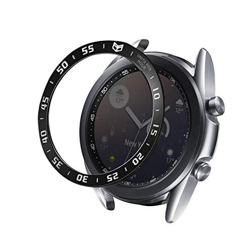YOOSIDE Bezel Kompatibel mit Samsung Galaxy Watch 3 45mm, Aluminium Schutz Hülle Lünette Schutz Bezel Ring Kratzfest für Galaxy Watch3 45mm (Schwarz)