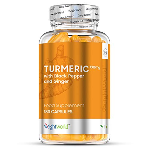 Organic Turmeric Curcumin with Black Pepper & Ginger - 365 Tablets (1 Year Supply) - High Strength Turmeric Supplement Capsules for Joint Health, Mobility & Stomach, Curcumin Extract, Vegan Friendly