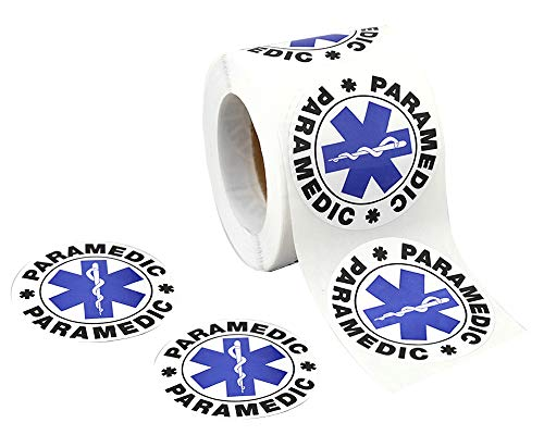 250 Star of Life Paramedic Stickers (250 Stickers on a Roll)