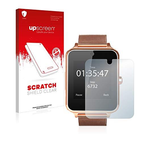 upscreen Schutzfolie kompatibel mit Smartek Fitness Tracker SW832 – Kristallklar, Kratzschutz, Anti-Fingerprint
