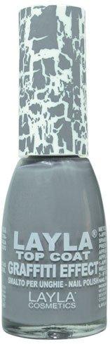 Layla Cosmetics Top Coat Graffiti Nagellack, gray, 1er pack (1 x 0.01 L)