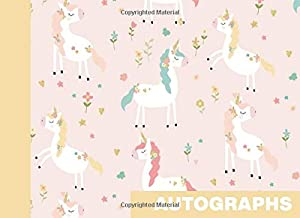 Autographs: Blank Unlined Book for Collecting Signatures and Messages | Pretty Unicorn Pattern in Pink and Yellow