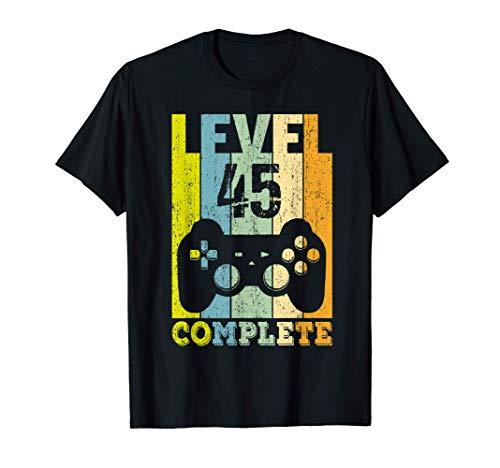 45. Geburtstag Mann Frau Level 45 Jahre Deko Party Geschenk T-Shirt