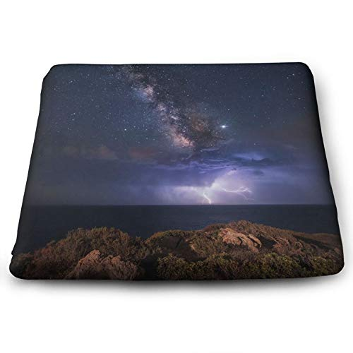 BQVIVYI Galaxy Square Chair Pads Back Cushions & Seat Cushions Home Decor Suitable for Furniture,Indoor and Outdoor