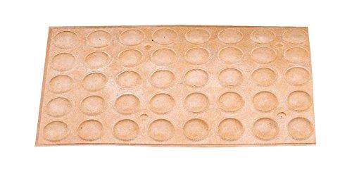 40 Stück Dämpfer Puffer Anschlagdämpfer selbstklebend Ø 8 mm transparent