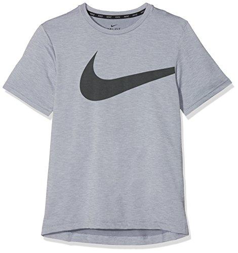 Nike Jungen T-Shirt Breathe Hyper GFX, Pure Platinum, M