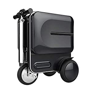 DXFK.AM Eléctrico Maleta Scooter de Equipaje 20 Pulgadas Tripulado Manejable Maleta para Adultos Portátil Carretilla Estuche de Viaje (Negro)
