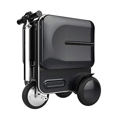 DXFK.AM Electric 20-inch Suitcase Luggage Scooter Manned Rideable Suitcase Adults for Travel Portable Trolley Travel Storage Case (Black)