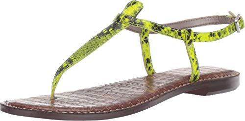 Sam Edelman Gigi Neon Yellow Snake Print Leather 7 M