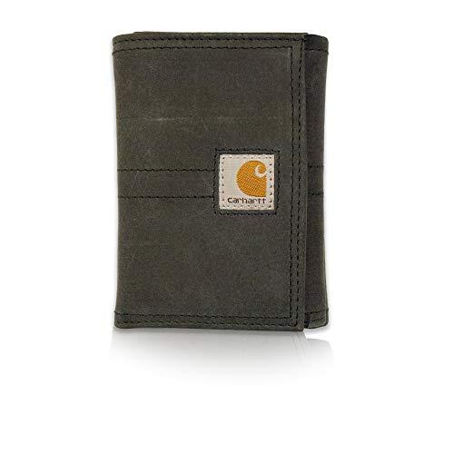 Carhartt Men's Standard Trifold Wallet, Legacy - Black, One Size