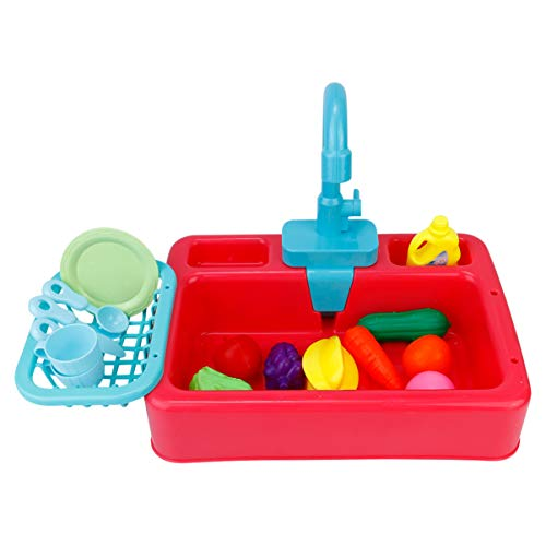 jojofuny 1 Juego de Juguete para Lavavajillas Eléctrico para Niños Lavaplatos Eléctricos Juguetes de Cocina para Niños Juguetes de Cocina para Niños Juguetes Interesantes para Lavar Platos