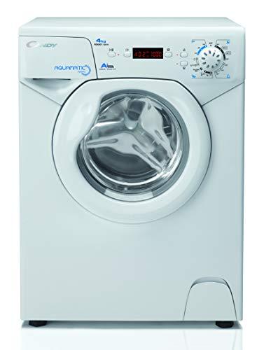 Candy Aqua 1041 D1 Waschmaschine / 4 kg / 1000 U/Min. / Raumsparwunder: nur 70 cm hoch & 45 cm tief / 3 Kurzprogramme/Mengenautomatik/Startzeitvorwahl