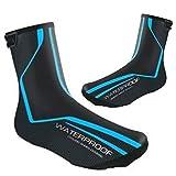 Couvre-chaussures de Cyclisme Imperméables Couvre-chaussures de vélo de Route D'hiver Couvre-chaussures Chaudes Thermiques pour Hommes Femmes, Chaussures de Cyclisme vtt (EU43-46(UK9.5-11.5),Blue)