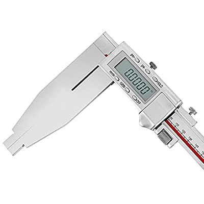 """Mxmoonfree 20 Inch Digital Caliper Long Jaw Caliper with 6"""" Jaw Depth Calipers Measuring Tool All-metal Frame Large LCD Screen 0.0005""""/ 0.01mm Resolution (20""""/ 500mm)"""
