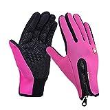 Guanti touchscreen unisex Inverno Termico Caldo Ciclismo Bicicletta Bici Sci Campeggio Esterno Escursionismo Guanti Moto Sport Golves-Pink-1-S