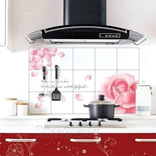 Adhesivo de pared para dormitorio, 5 unidades, resistente al aceite, azulejos resistentes a altas temperaturas, extra grande, adhesivo de pared de aluminio, adhesivo de cocina a casa A