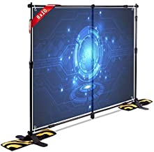 T-SIGN 10x8 ft Professional Step and Repeat Backdrop Banner Stand Large Heavy Duty Telescopic, Trade Show Photo Booth Background, Carry Bag, Sand Bags