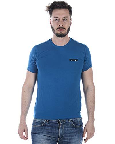 Fendi - Camiseta Hombre FAE519A0DI Azul 52