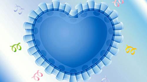 Juego De Rompecabezas De 1500 Piezas Corazón Azul Puzzles Interesantes 34.3x22.4in(87x57cm)