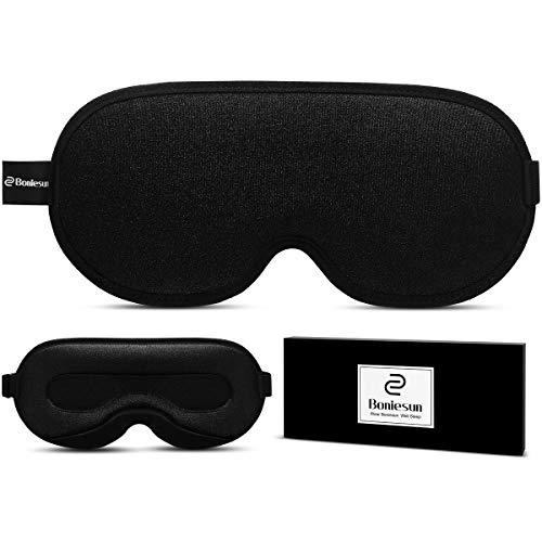 Boniesun Ultra-Großer Raum 3D Plus Schlafmaske für Frauen Männer, Atmungsaktive Schlafmaske für Verdunklung Augenmaske zum Schlafen Weiche und Bequeme Lycra-Stoff Hohlstruktur Augenbinde