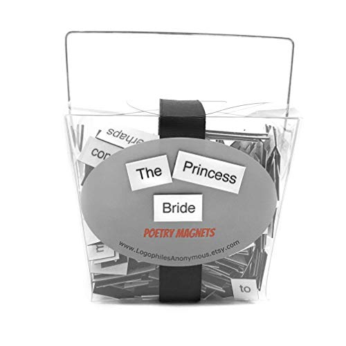 The Princess Bride Poetry Magnets / Fridge Magnets / Princess Bride Quotes / As You Wish / Inigo Montoya / Inconceivable / Princess Bride Gift / Princess Buttercup / Marriage / Westley and Buttercup