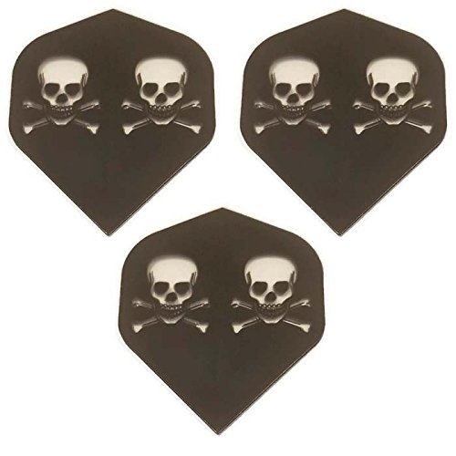 Designa Royal Classic 3Pack Schwarz Transparent Jolly Roger Ghost Skull Knochen 100Mikron Extra Stark Standard Dart Flights