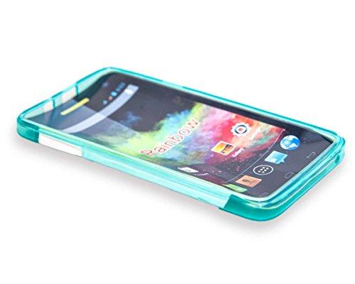 caseroxx TPU-Hülle für Wiko Rainbow 4G, Handy Hülle Tasche (TPU-Hülle in hellblau)