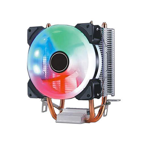 YALIXING JJBHD Electronic Accessoires & Supplies 9cm Double Copper Tube Aurora DIY Game Cooling Lüfter CPU Kühler for 775 / 115x / 1366 / AMD-Serie Um Ihnen die Qualität der Exzellenz bereitzustelle