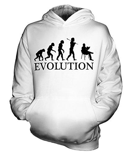 Candymix - Reading Evolution of Man - Sudadera unisex con capucha para niños y niñas, blanco, 9-11 años