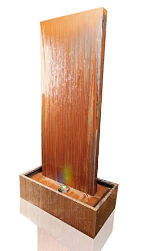 Primrose 4ft (120cm) Corten Steel Vertical Water Wall with LED lights
