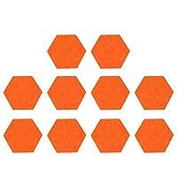 EXCEART フェルトボード フェルト掲示板 コルク掲示板 フェルトウォールステッカー 写真陳列板 描画ピン 伝言板 写真壁 案内板 メモボード 12ピース 35 x 30cm フェルト装飾(オレンジ)