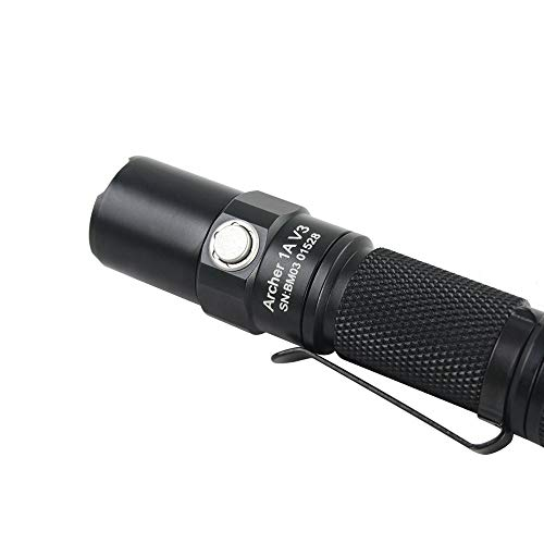 『ThruNite Archer 1A V3 懐中電灯 LED フラッシュライト ハンディライト小型 CREE XP-L V6搭載 明るさ最大200 ルーメン/最大照射距離66メートル/最大光度1088cd 4段階明るさ切替+ストロボモード IPX-8防水 単3アルカリ乾電池×1本使用 1AV3 CW』の7枚目の画像