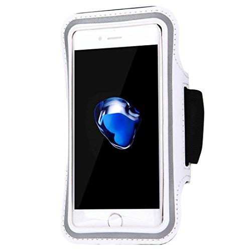 Wckxy Caja de Brazalete Deportiva con Llave de Bolsillo, para iPhone 6 / iPhone 8 y 7 / Galaxy J5 / Galaxy J7 y Otro Modelo (Negro). (Color : White)