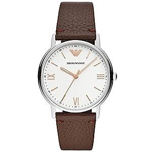Emporio Armani Reloj Analógico para Hombre de Cuarzo con Correa en Cuero
