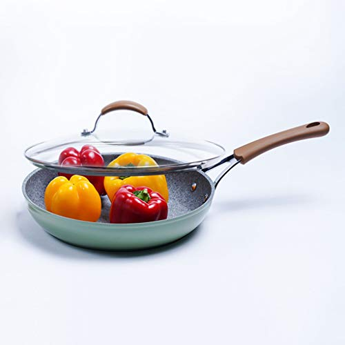 JT-Cookware Speck-sandwich-pan, non-stick-pan, braadpan, binaurale pan, metalen pan, gesmoorde, multifunctionele pan, risotto-pot