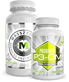 BiOptimizers - P3-OM and MassZymes Bundle - Premium Digestive Enzymes and Probiotics for Women and Men - Doctor-Formulated (250 MassZymes Capsules, 120 P3-OM Capsules)