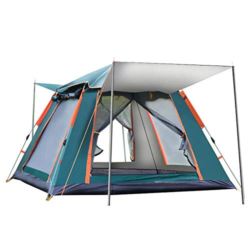 HYQW Camping Tent Fully Automatic Speed Open Beach Camping Automatic Spring Tent Screen Window Breathable Full Floor Type Tent