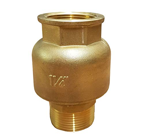 Rückschlagventil 1 1/4 Zoll (41,7mm) gerade_-=-_ mit Messingkegel als Rückschlagklappe für Brunnen Saugschlauch Hauswasserwerk Schwengelpumpe Gartenpumpen -Das Ventil das die Profis nutzen !