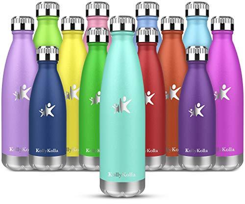 KollyKolla Botella de Agua Acero Inoxidable, Termo Sin BPA