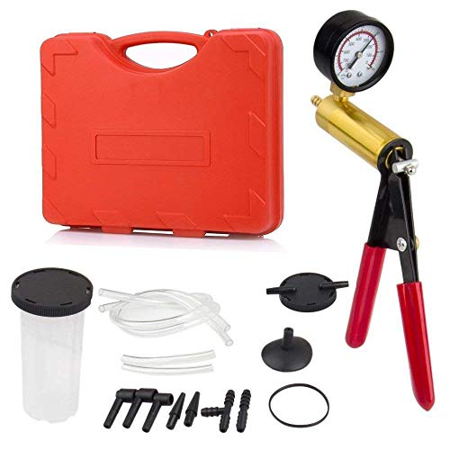 Podoy Brake Bleeder Kit Vacuum Pump Handheld 2 in 1 Test Set Tuner kit for Automotive Tuner Tools Adapters Case