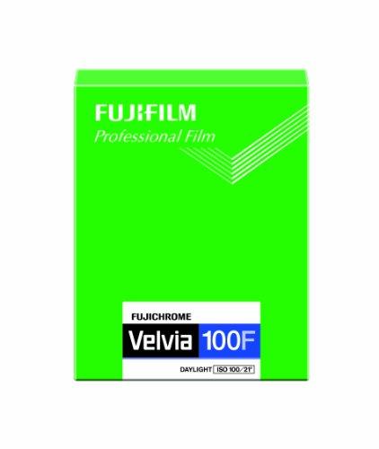 FUJIFILM リバーサルフィルム フジクローム Velvia 100F シート 20枚 CUT VELVIA100F 4X5 20